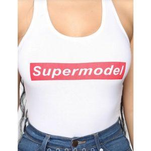 Supermodel tank top bodysuit